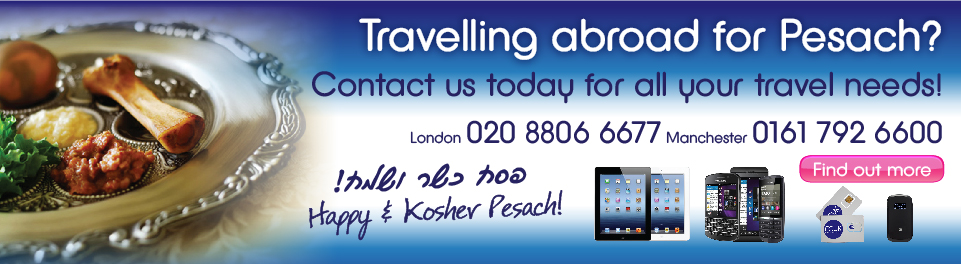 Travelling abroad for Pesach?